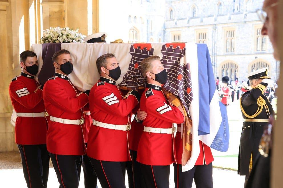Las emotivas fotos del funeral del duque de Edimburgo, marido de la reina Isabel II