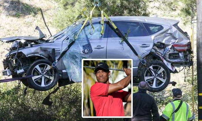 Tiger Woods conducía al doble del límite de velocidad permitido en accidente