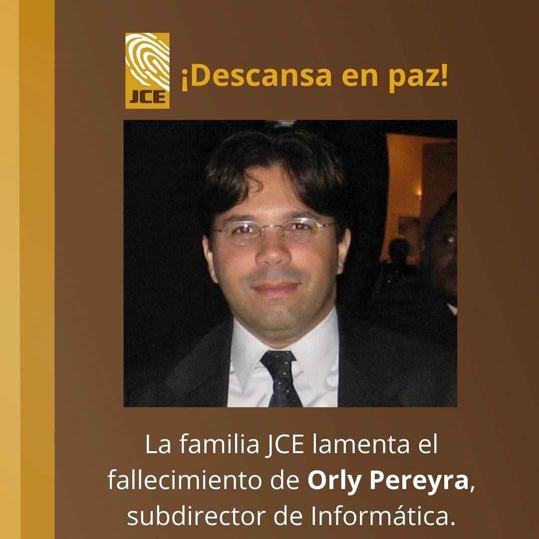 Muere Orly Pereyra, empleado de la JCE desde el año 2000