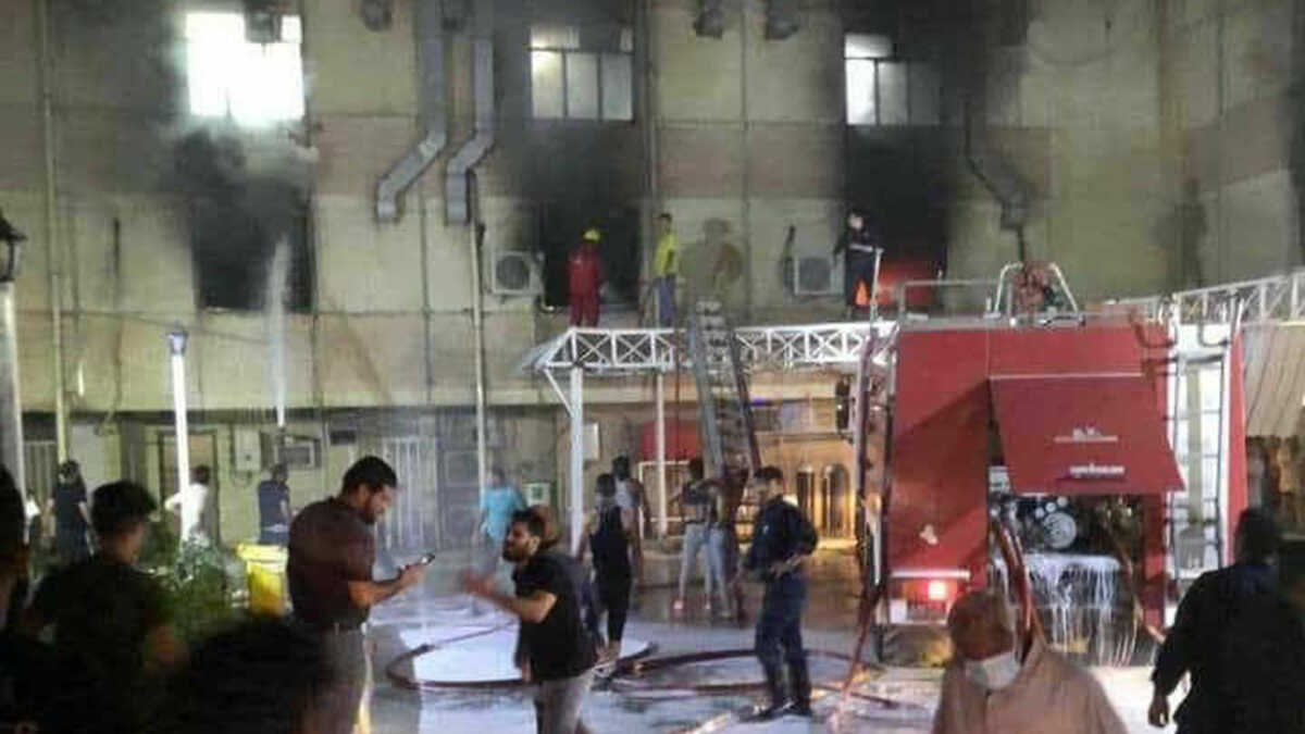 Mueren 24 pacientes de coronavirus en explosión de hospital en Bagdad
