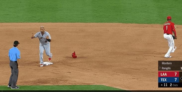 Albert Pujols sorprendió a todos con robo de tercera base