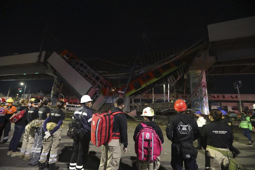FOTOS: 23 muertos y 70 heridos al desplomarse metro en Ciudad de México