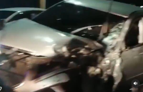 Se registra accidente de tránsito múltiple en el puente de la 17