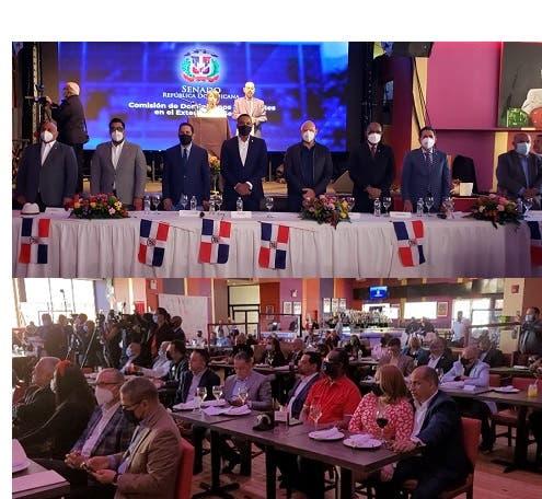 Dominicanos en NY acuden en masa a encuentro comisión senadores RD