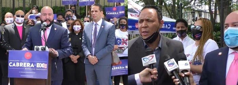 Fernando Cabrera recibe apoyo de líderes en El Bronx