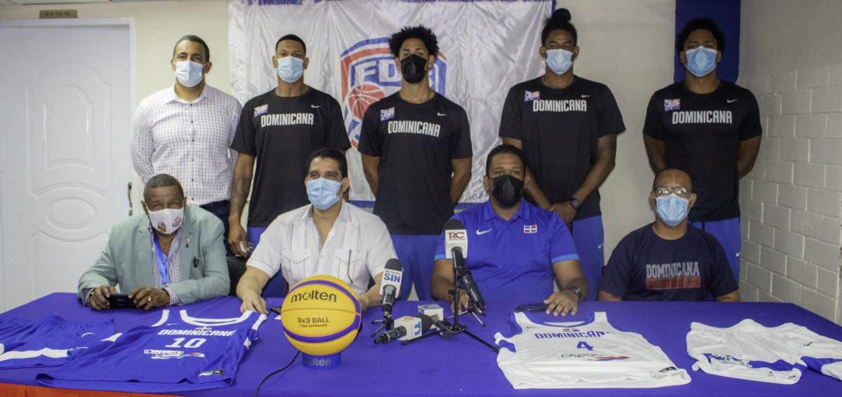 Fedombal presenta equipo nacional que va al preolímpico de baloncesto 3×3 en Austria