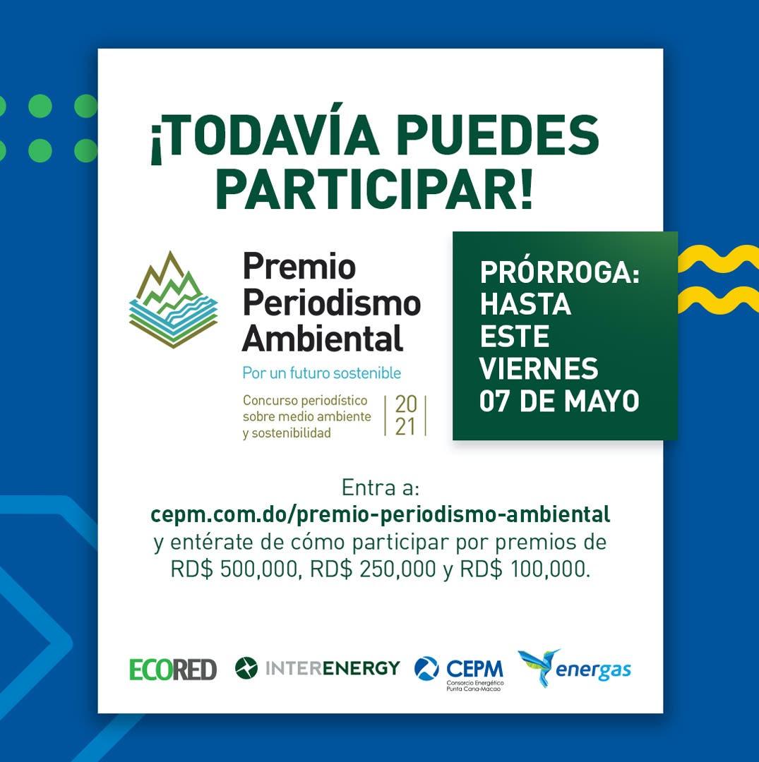 Anuncian prórroga  hasta el 7 de mayo para concursar en Premio Periodismo Ambiental