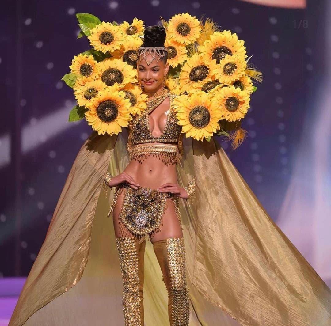 Así desfiló Kimberly Jiménez su traje típico en gala previa al Miss Universo
