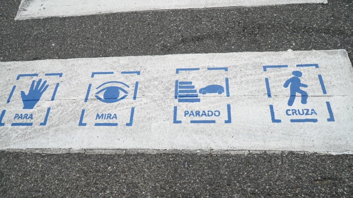 Implementarán señalética inclusiva en cruces de cebra en avenidas DN