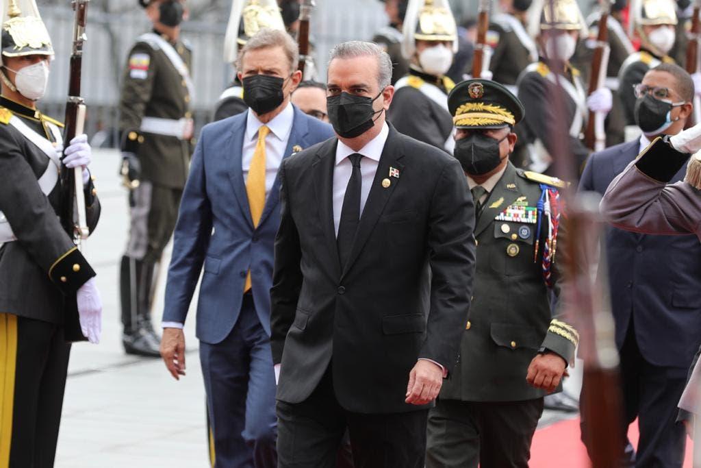 Presidente Abinader asiste a juramentación del mandatario ecuatoriano, Guillermo Lasso