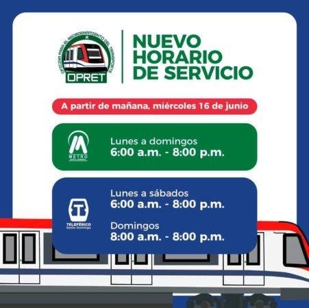 Horario servicio Metro y Teleférico