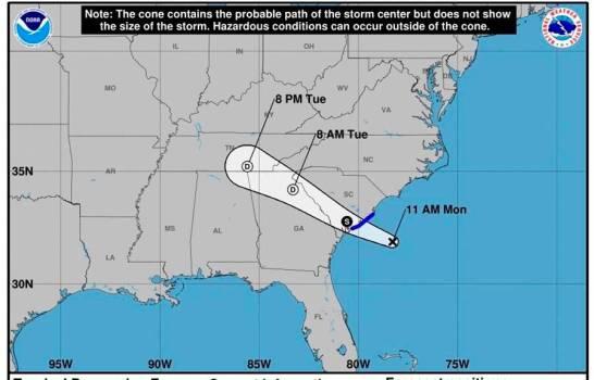Se forma la cuarta depresión tropical de la temporada en la cuenca atlántica