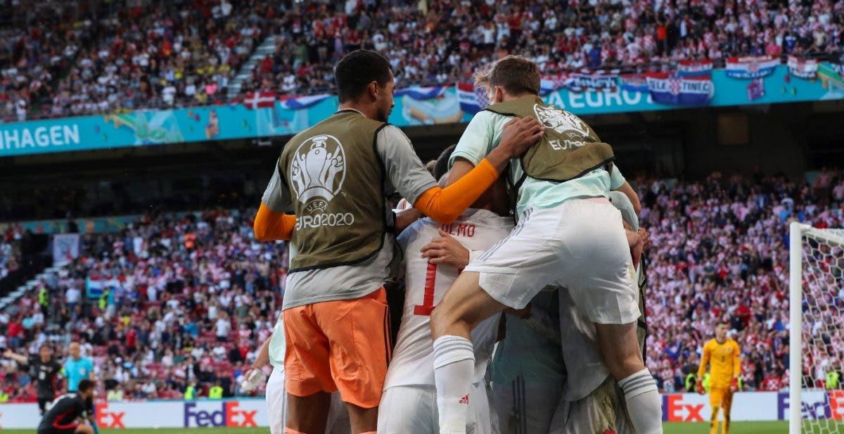 España derrotó a Croacia y avanza a los cuartos de finales