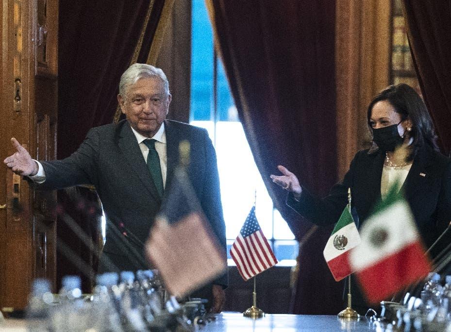 López Obrador se reúne con vice EEUU Harris