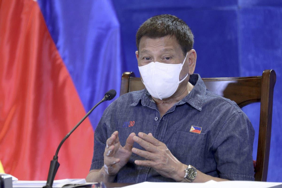Presidente de Filipinas, Rodrigo Duterte, amenaza con la cárcel a quien rechace la vacuna anticovid