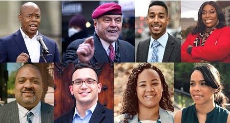 Adams y Sliwa encabezan primarias demócratas y republicanas alcaldía NYC; varios dominicanos también