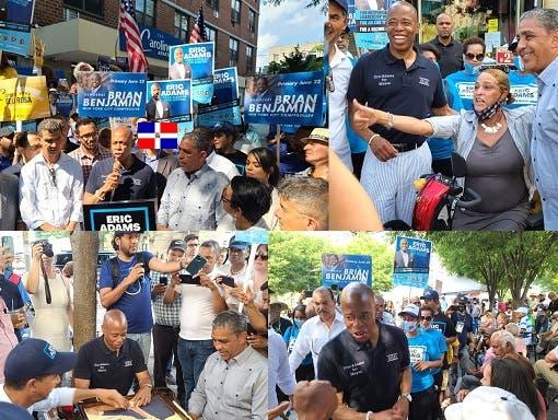Aspirante Alcaldía NYC cierra su campaña entre dominicanos Alto Manhattan