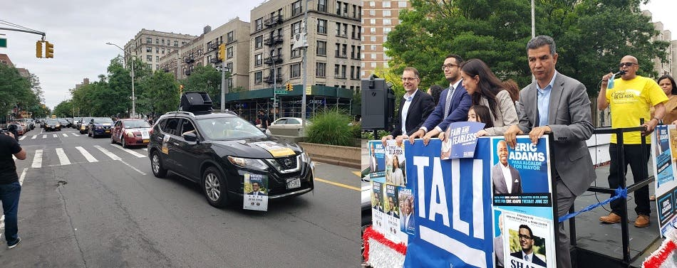 """Candidatos dominicanos efectúan en Alto Manhattan """"Caravana de la Victoria"""""""
