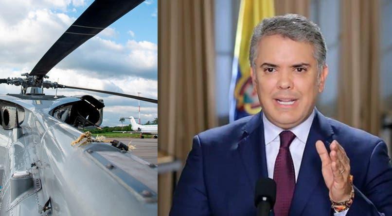 Atacan a tiros el helicóptero en que viajaba el presidente de Colombia