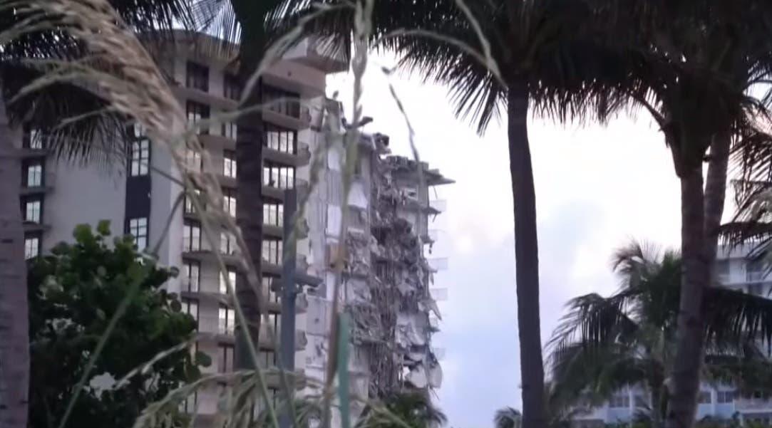 """""""No quedó nada"""", dicen asombrados supervivientes del derrumbe en Miami Beach"""