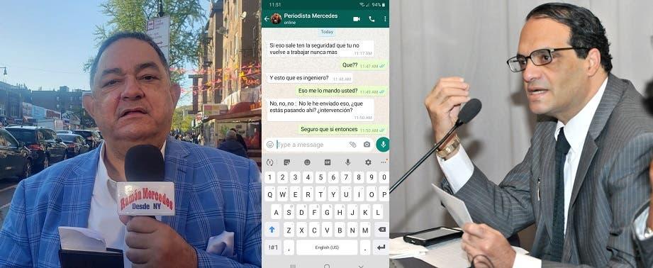 Periodista en NY denuncia a su nombre amenazan embajador Carlos Michelén