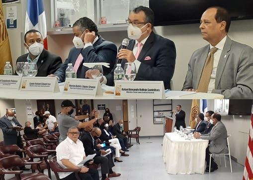 Presidente JCE se reúne con partidos políticos en NYC y recibe propuestas