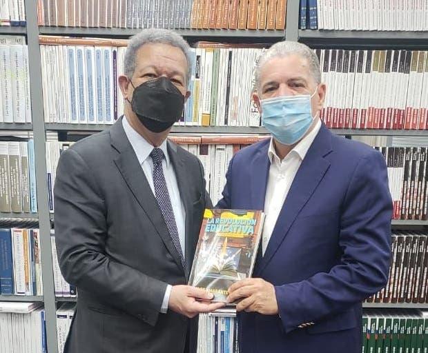 Leonel Fernández y Amarante Baret se reencuentran; te contamos de qué hablaron