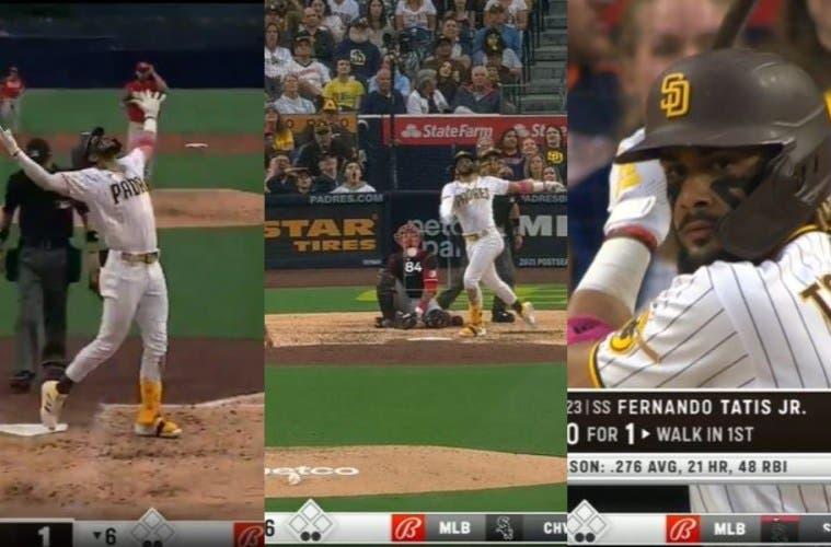 Fernando Tatis JR. con jonrón 22 alcanza a Vladímir Guerrero Jr. en liderato de la MLB