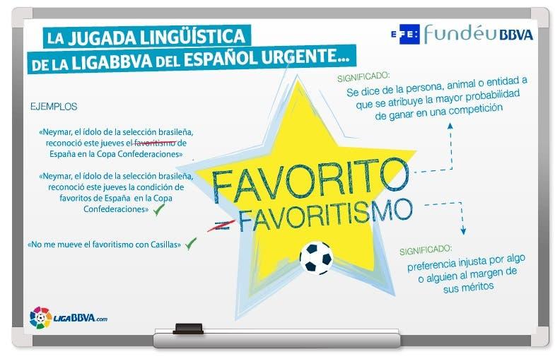 FundéuRAE: «favoritismo» no es «condición de favorito» ni «ventaja»