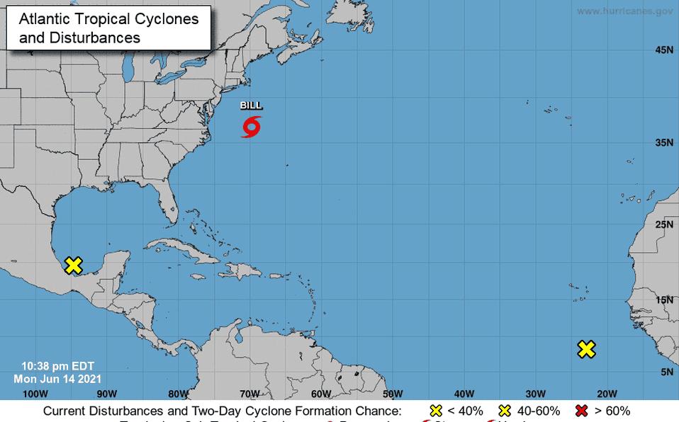 Se forma tormenta tropical Bill lejos de Carolina del Norte