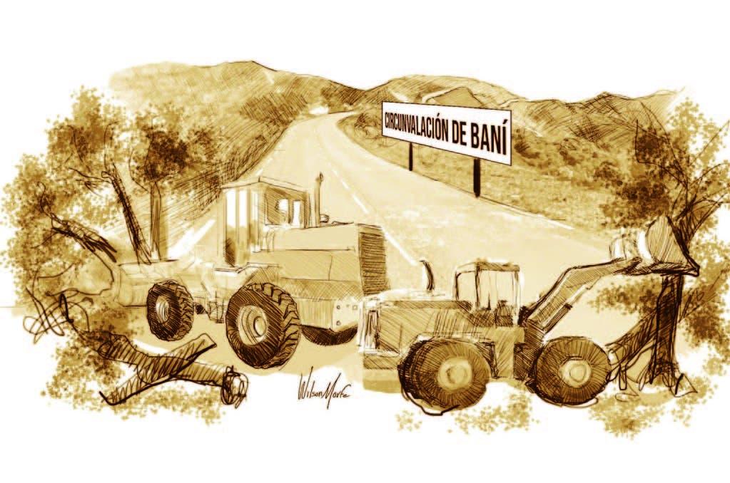 Avanza la construcción de la circunvalación a Baní