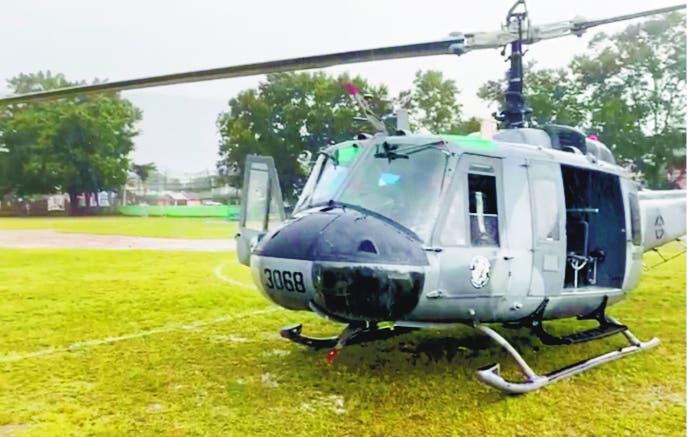 Mal tiempo obliga Presidente a dejar helicóptero