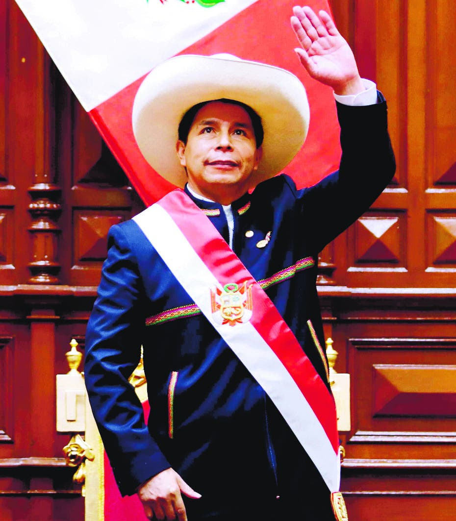 Pedro Castillo asume  presidencia de Perú
