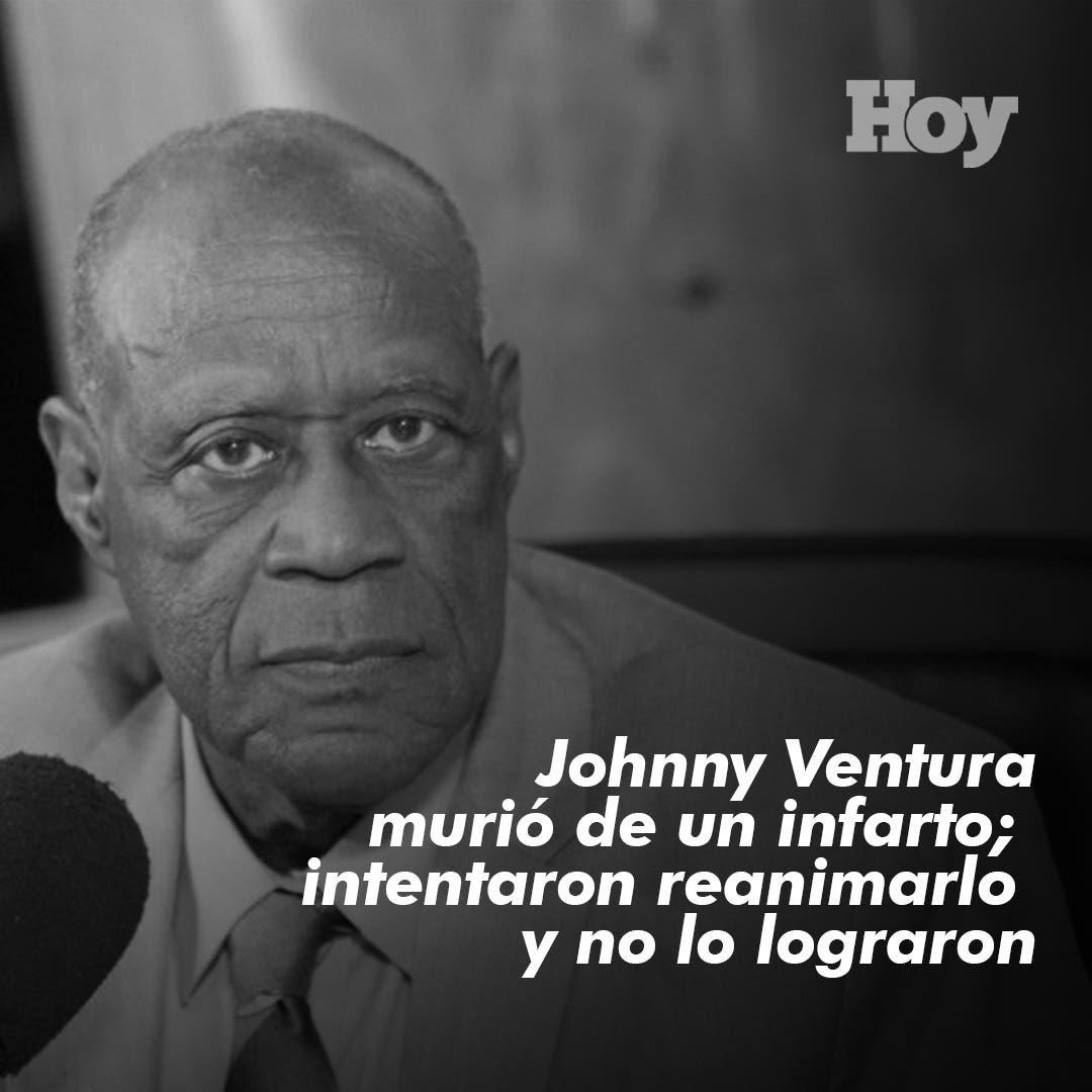 Johnny Ventura murió de un infarto; intentaron reanimarlo y no lo lograron