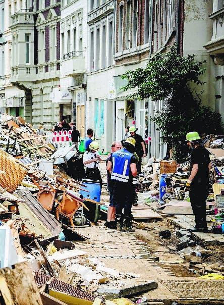 Ven graves daños dejó inundación Alemania
