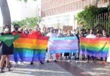 La protesta se realizó frente al Congreso Nacional José Francisco