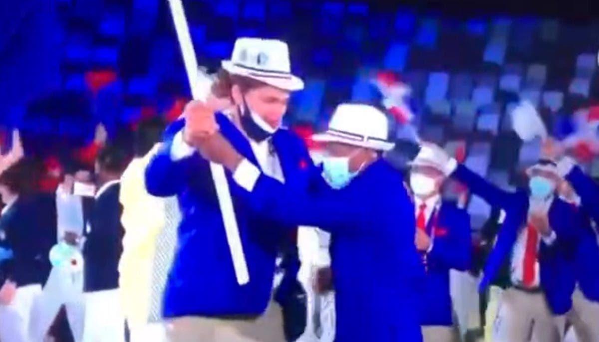 Juegos Olímpicos: Atletas dominicanos bailaron merengue en el desfile de Tokio