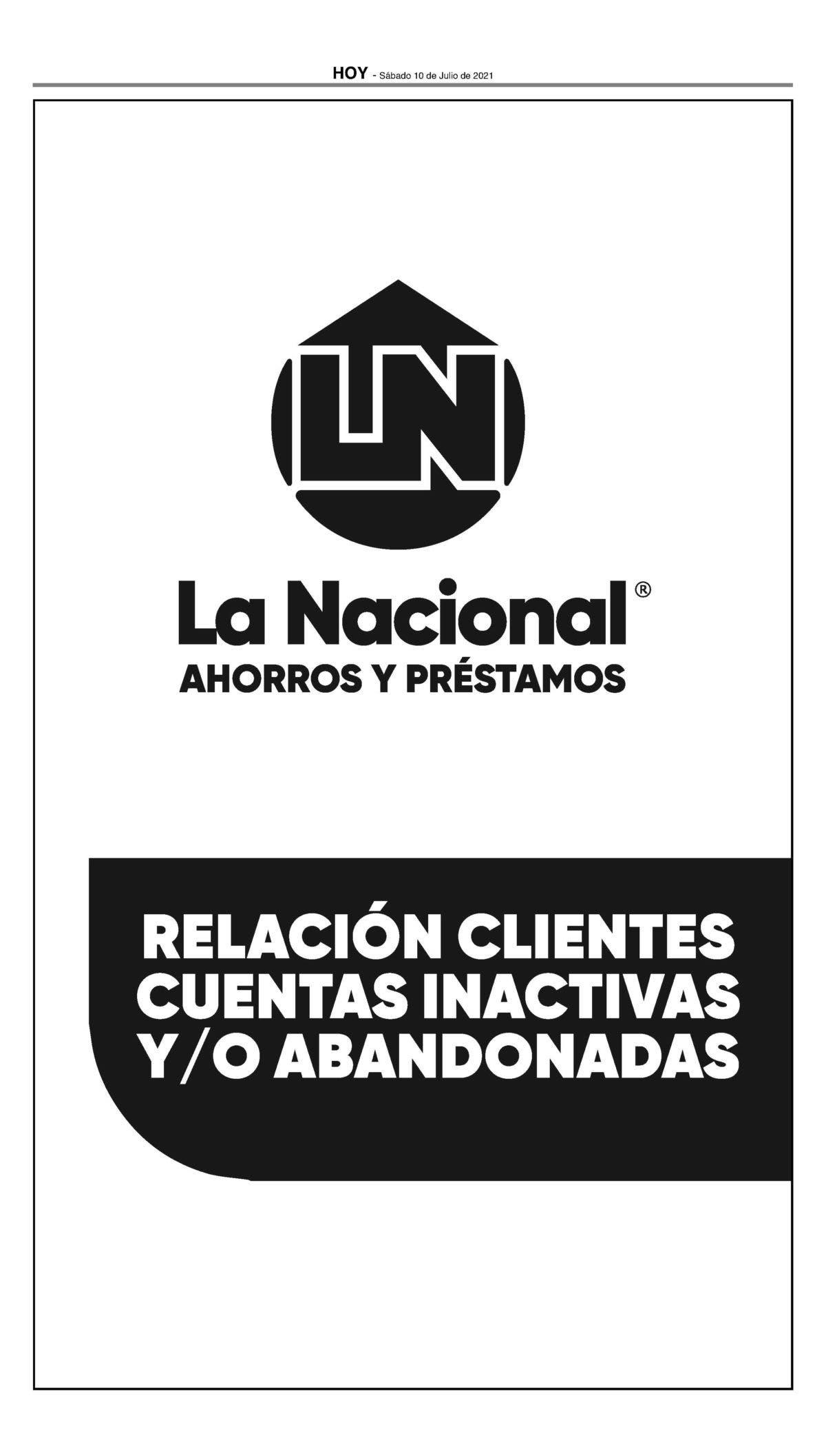 Suplemento Asociación La Nacional suplemento
