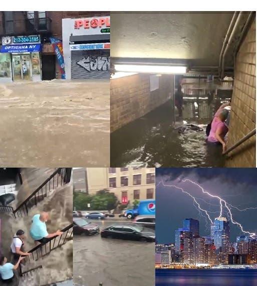 Efectos tormenta Elsa semiparaliza ciudad NY y otras adyacentes