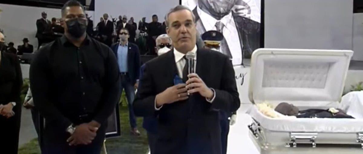 «Adiós Johnny, el pueblo dominicano siempre te recordará…»:Luis Abinader en el Palacio de los Deportes