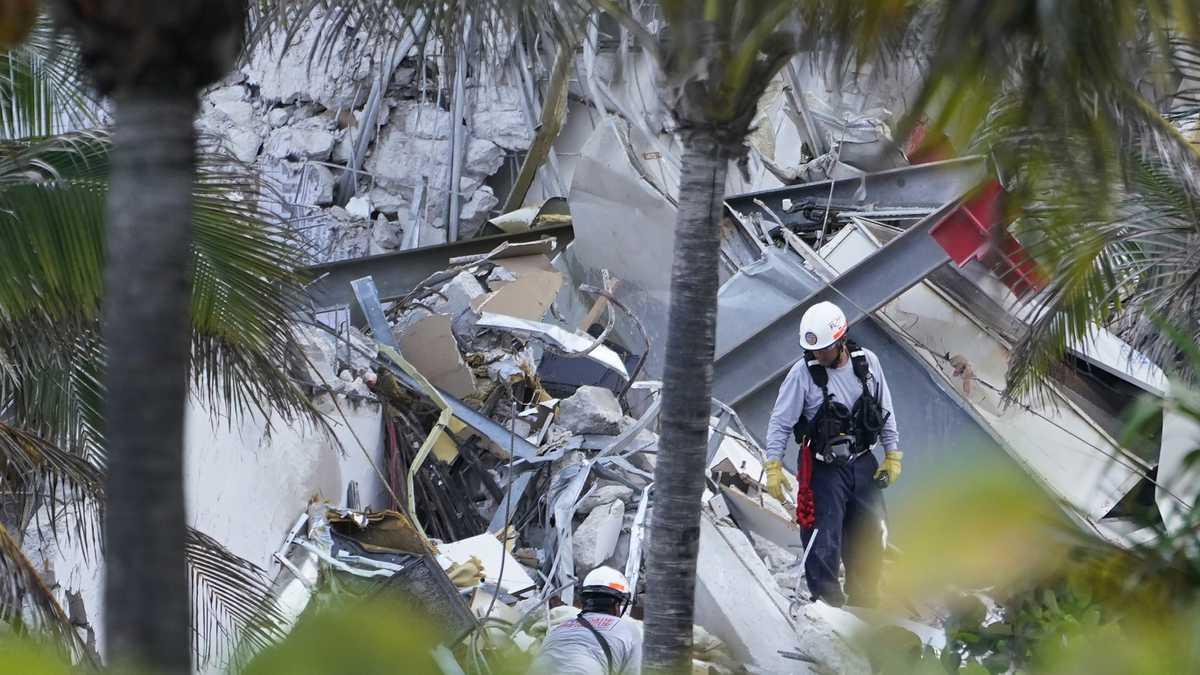 Un rescatista encontró a su hija muerta entre los escombros del edificio en Miami