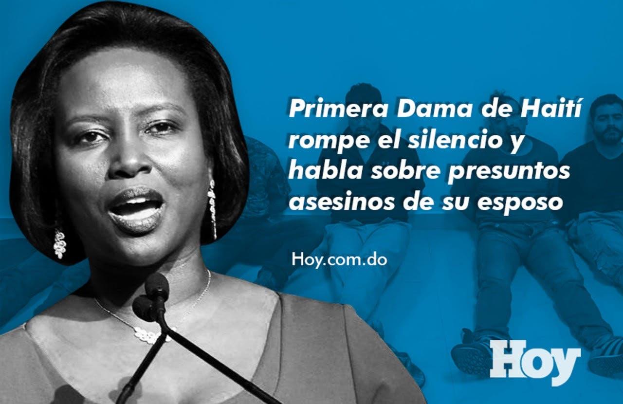 Primera dama de Haití se recupera de sus heridas y rompe el silencio; aquí lo que dijo