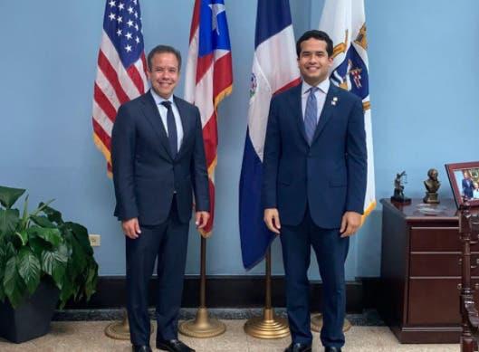 Omar Fernández busca fortalecer relaciones entre RD y Puerto Rico en visitas a líderes