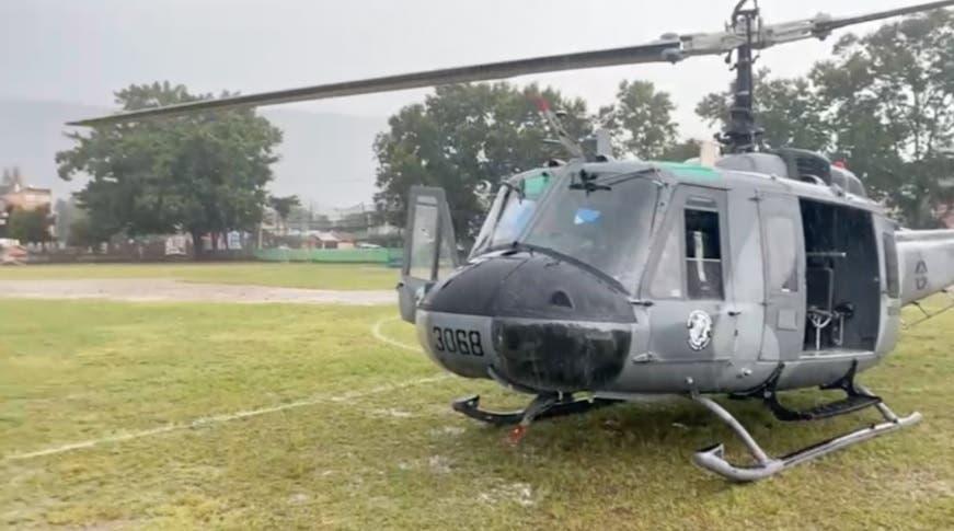 Helicóptero presidencial aterriza de emergencia por mal clima