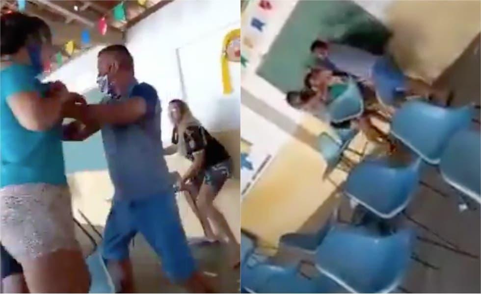 Video viral: Hombre acompañó a su amante a vacunarse y se encuentra a su esposa
