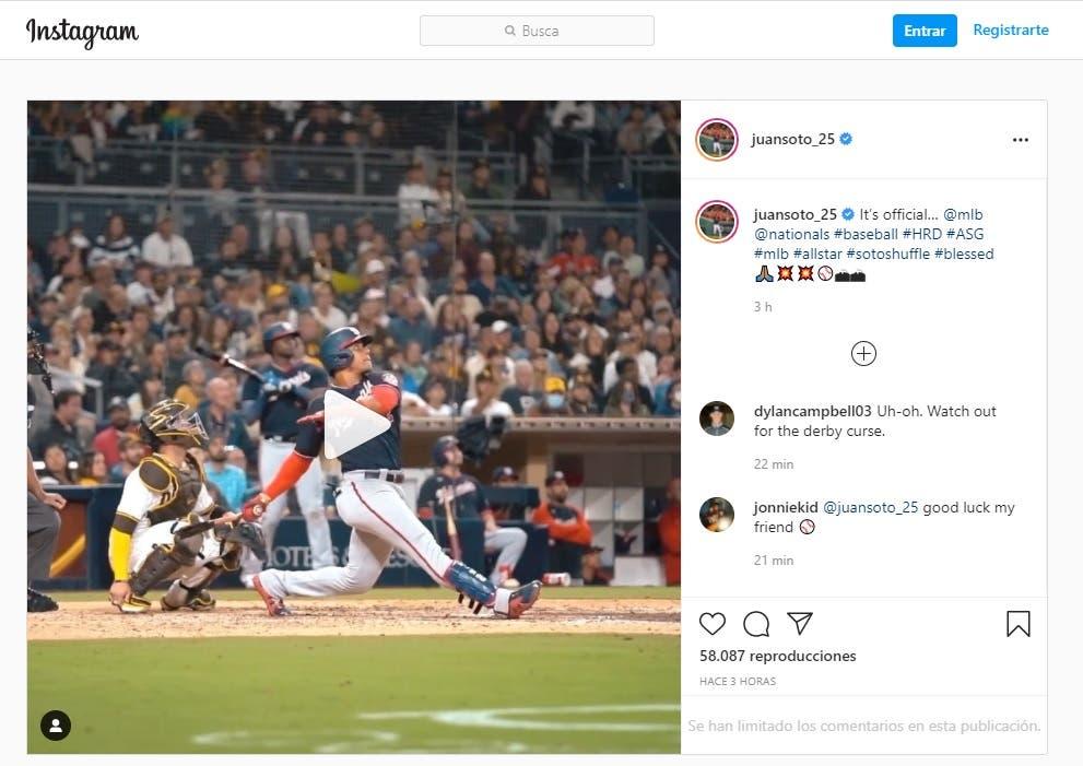 Juan Soto va al Home Run derby de 2021