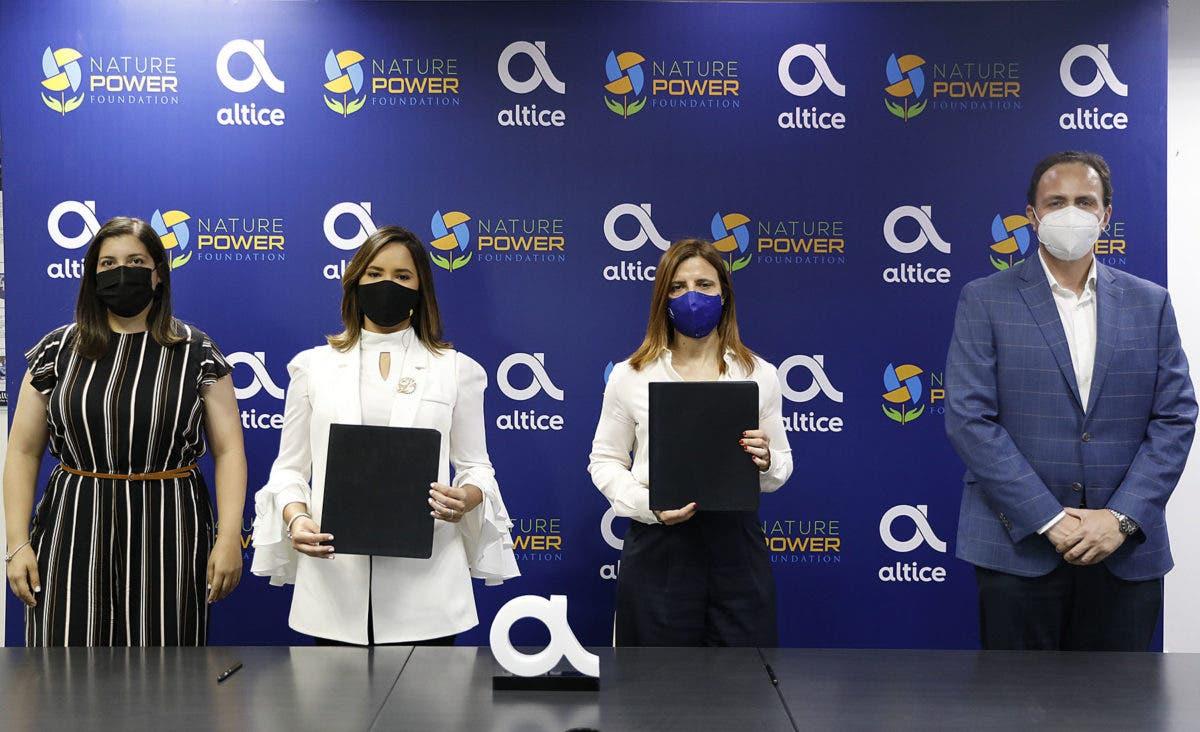 Fundación Altice realiza alianza tecnológica con la Fundación Nature Power Foundation