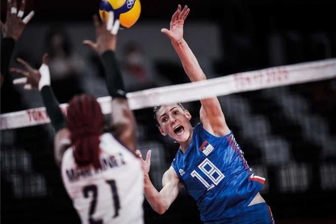 Serbia derrota 3-0 a las Reinas del Caribe en los Juegos Olímpicos Tokio