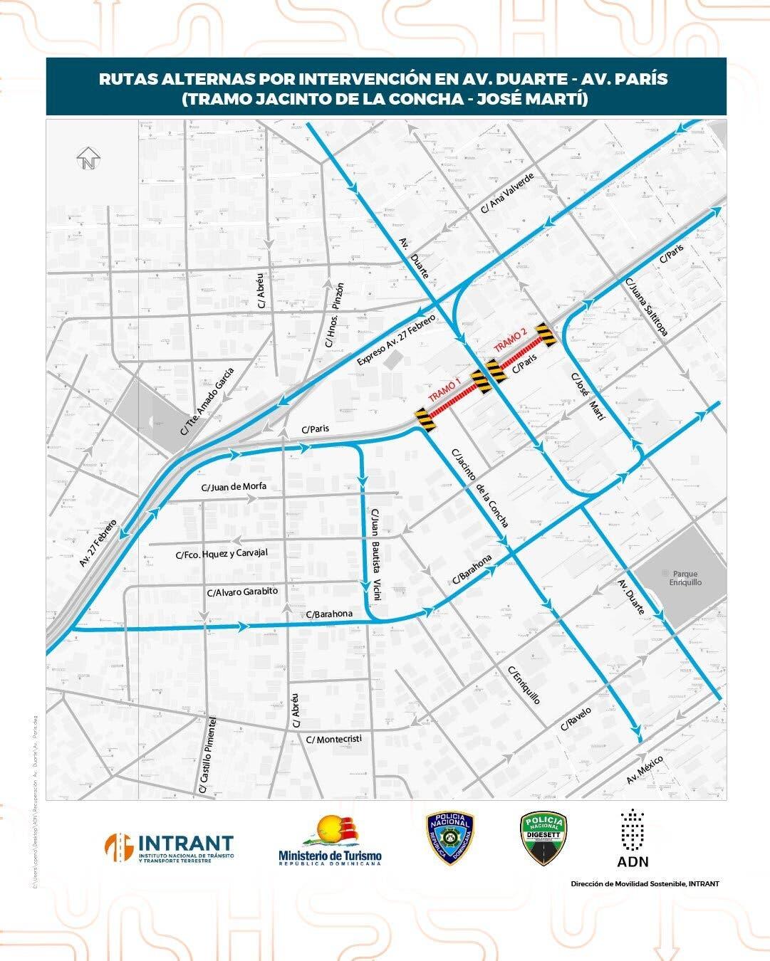 Cierran hoy la avenida Duarte; vea aquí las rutas alternas