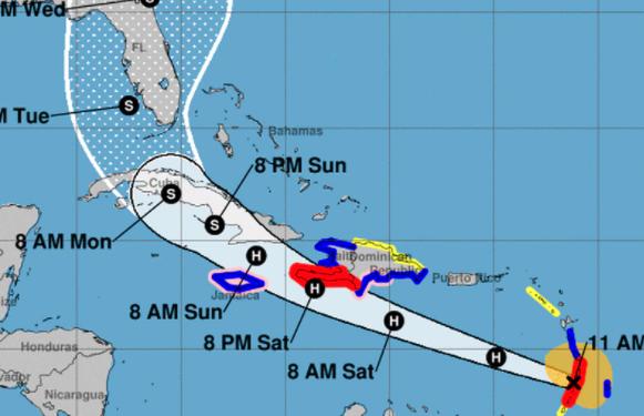 Amplitud de huracán Elsa podría provocar «intensas» lluvias en el país